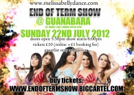 MELISSA BELLY DANCE END OF TERM SHOW 22ND JULY 2012!