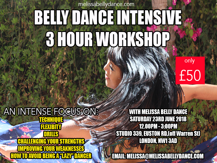 Belly Dance IntensiveSAT JUNE 2018