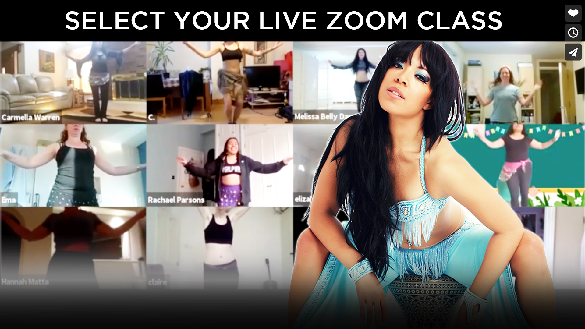 melissa belly dance online zoom classes