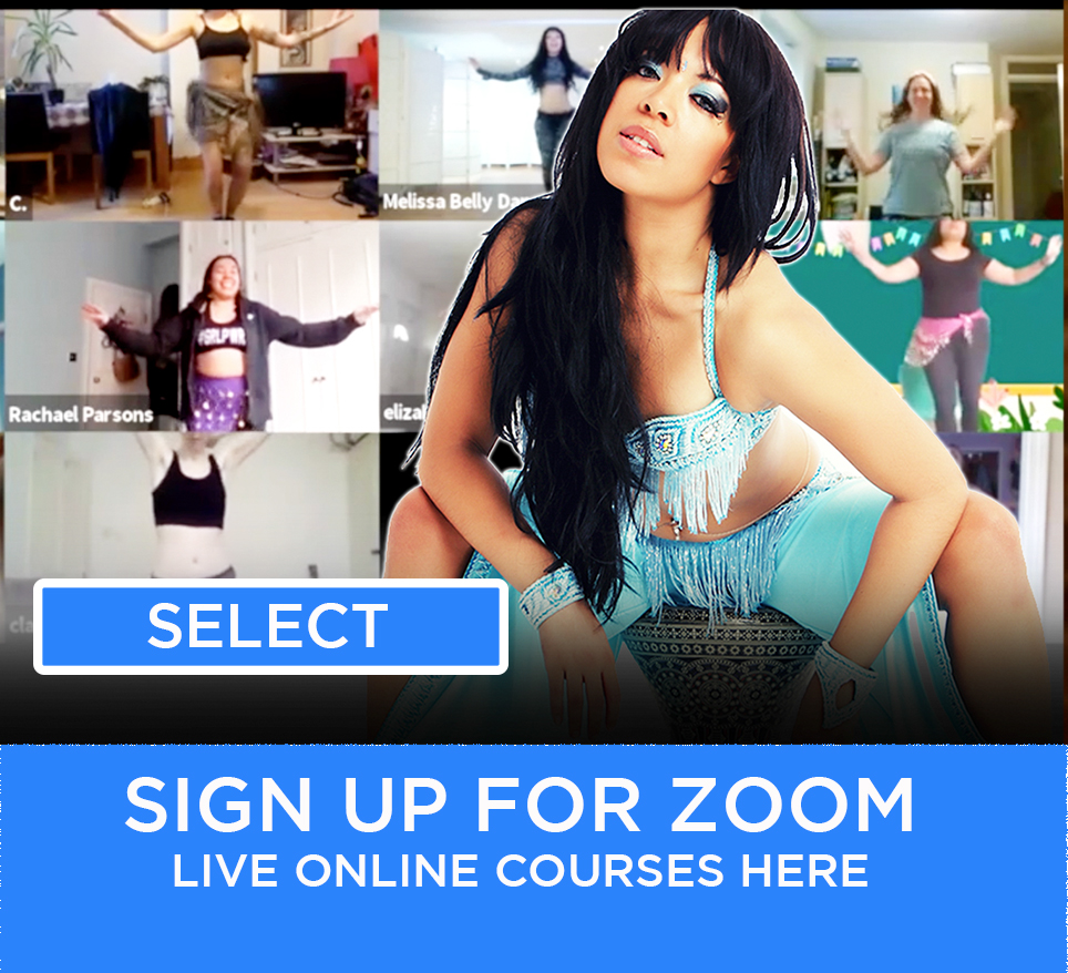 zoom online monthly belly dance course