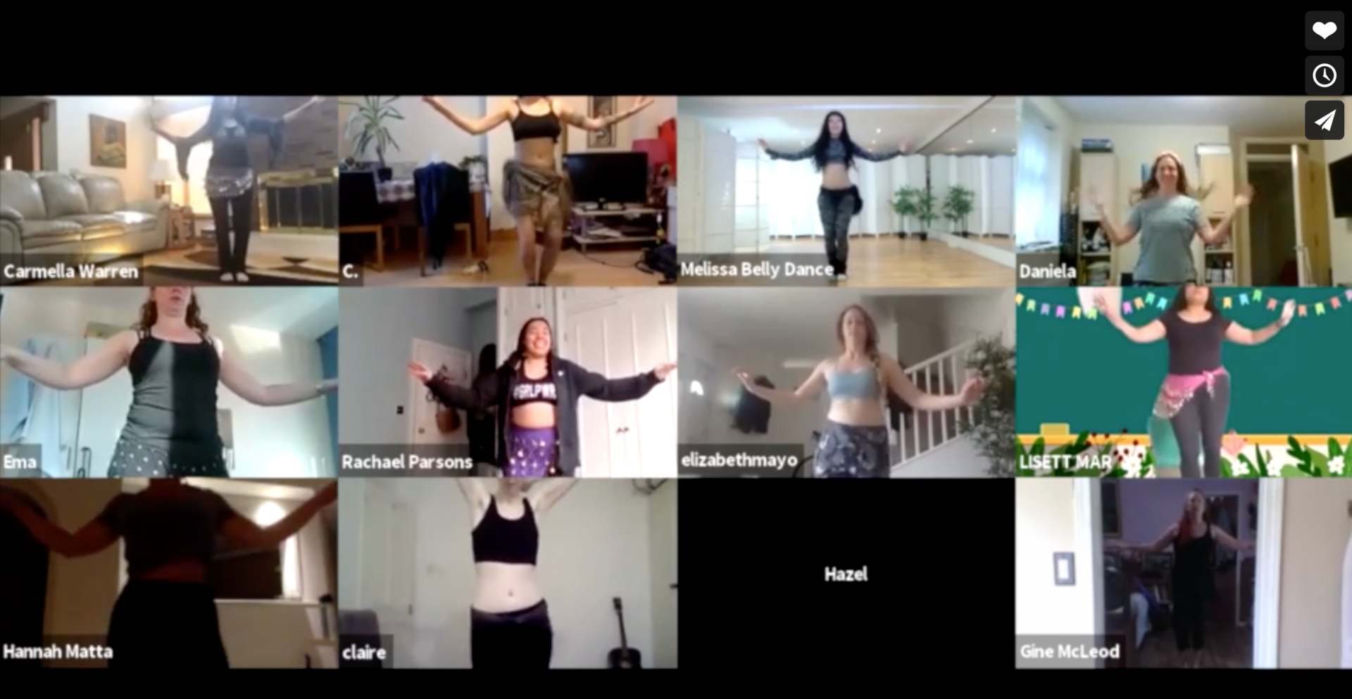 Melissa belly dance zoom class